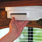 Store Paper Plates in the RV With Under Cabinet Dispenser
