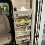 Organize Your RV With a Hanging Pocket Organizer on Ladder