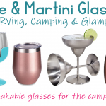 Best Wine & Martini Glasses for RVing, Camping & Glamping