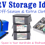 RV Storage Ideas for Off-Season & Extra Clothing